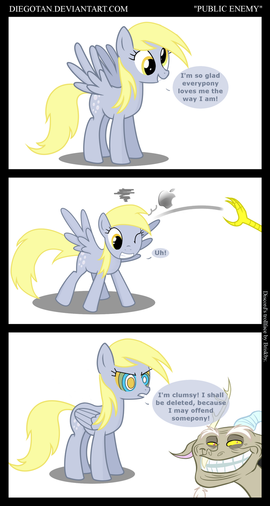 Derpy Hooves as a Public Enemy by DiegoTan