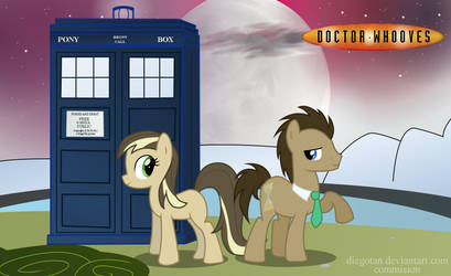 Commision: Doctor Whooves and his Companion