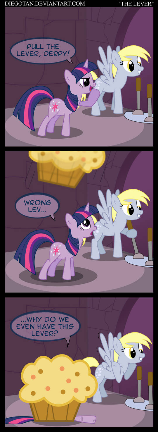Twilight and Derpy in ''The Lever''