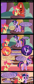 Twilight and Apple Bloom in ''Il Maestro''