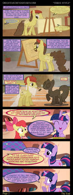 Twilight and Apple Bloom in ''Three Style''