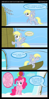 Derpy and Pinkie Pie in ''Getting It''