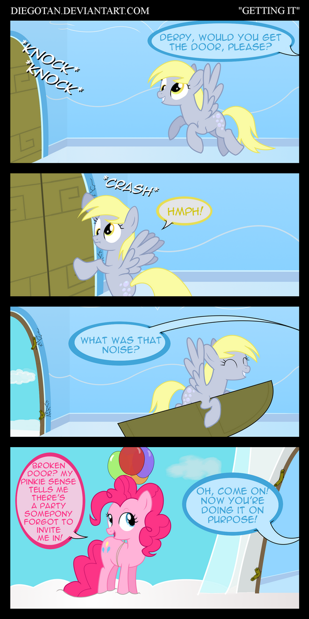 Derpy and Pinkie Pie in ''Getting It'' by DiegoTan