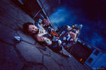 Hanzo and Roadhog cosplay by DiegoTan