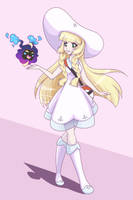 Lillie and Nebbie by LethalAuroraMage