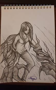 Traditional Art - monster girl