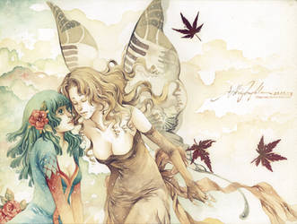 Kiss the Autumn by Claparo-Sans