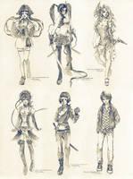 Sketch commissions - Set 1 by Claparo-Sans