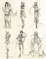 Sketch commissions - Set 2