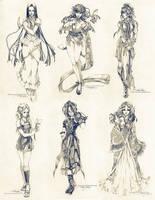 Sketch commissions - Set 3 by Claparo-Sans
