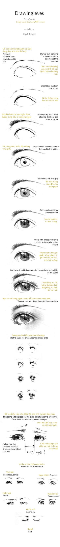 Drawing Eyes by Claparo-Sans
