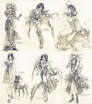 Sketch commissions - Set 6
