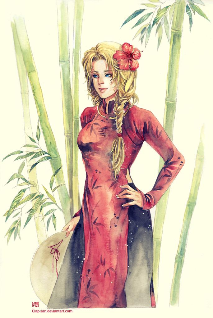 Red Dress by Claparo-Sans