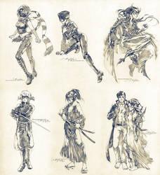 Sketch commissions - Set 8 by Claparo-Sans