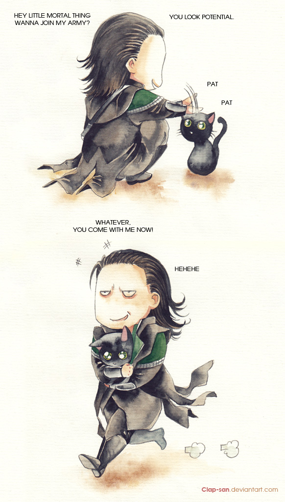 Loki takes what he wants by Claparo-Sans