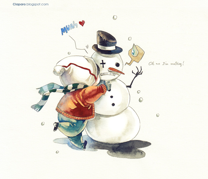 Kiss and hug by Claparo-Sans