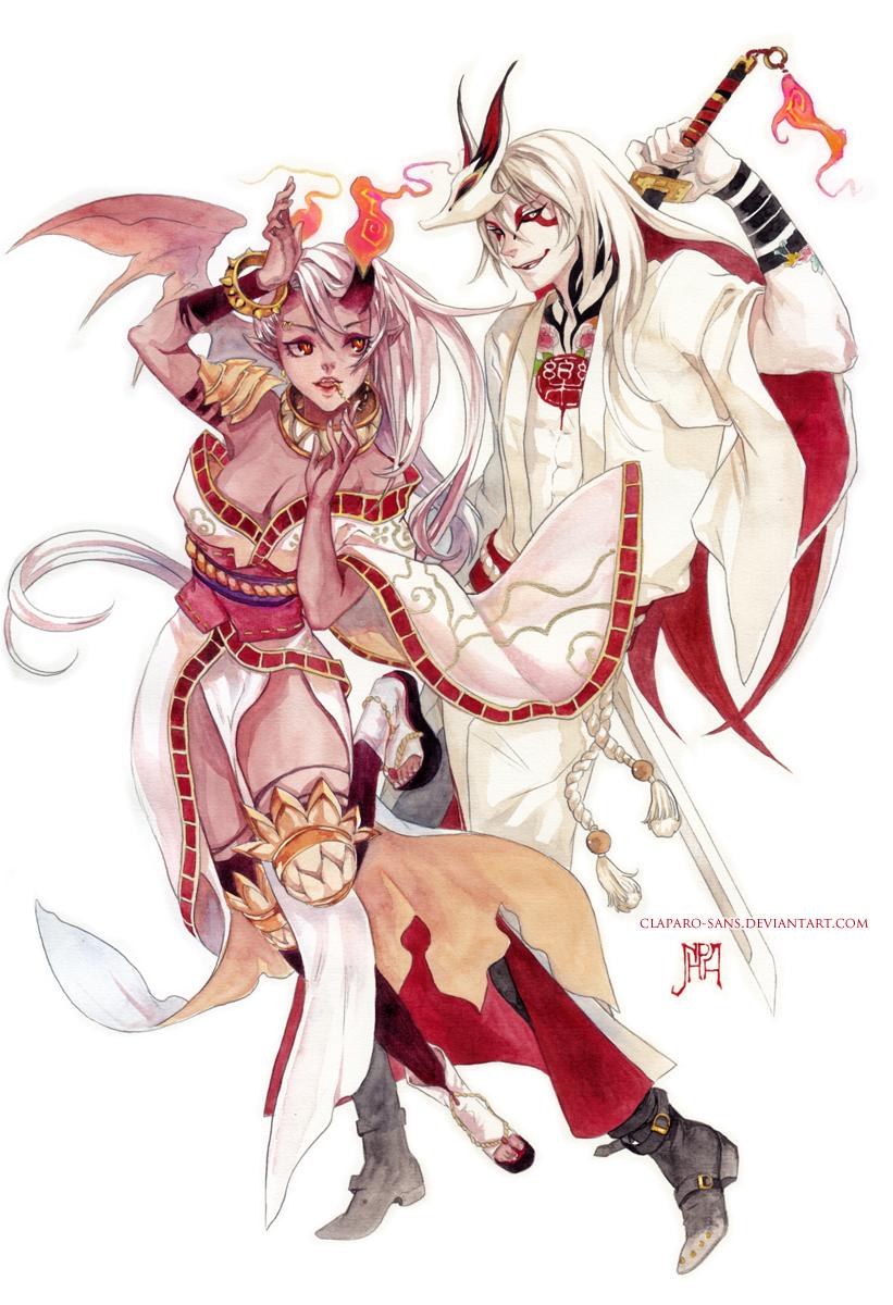 Rakka and Entou by Claparo-Sans