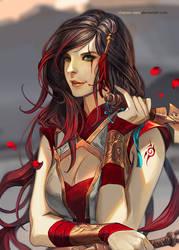 Warring Kingdoms Katarina by Claparo-Sans
