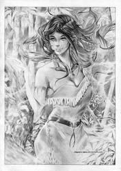 Pocahontas - P by Claparo-Sans