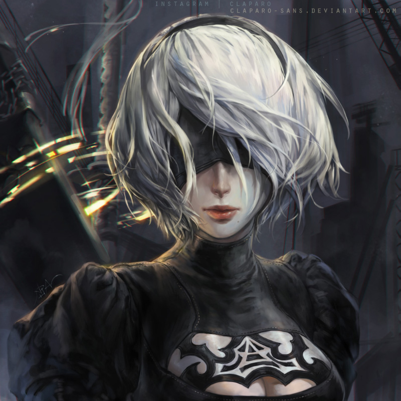 Nier Automata 2b By Claparo Sans On