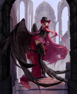 Dark Angel by Claparo-Sans