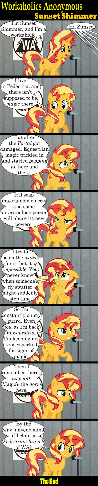 Workaholics Anonymous: Sunset Shimmer