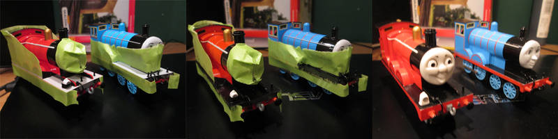 James and Edward with Black Running Plates