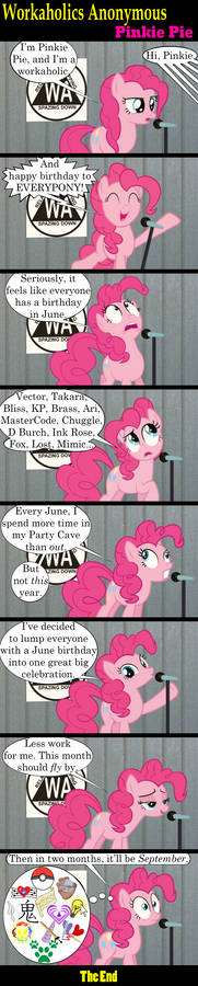 Workaholics Anonymous: Pinkie Pie