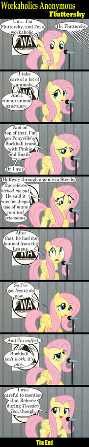 Workaholics Anonymous: Fluttershy
