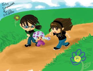 Las desaventurasde Drew y Mary by X-MegaGirl