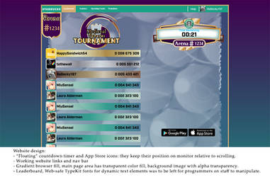 Medieval Spheres Tournament website design