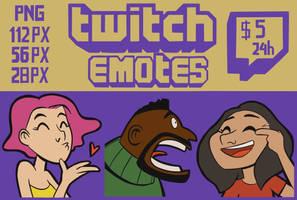 Custom Twitch Emotes For You by TabitaCat