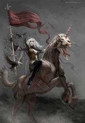 Fifth Horsewoman of the Zombie Apocalypse by karichristensen