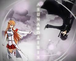 SAO: Kirito + Asuna by Kherohi