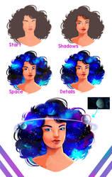 Galaxy Glam (Process)