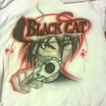 Black Cat T-Shirt by heiji-cas-dean