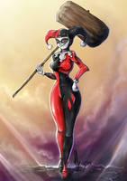 fan art Harley Quinn by Almarosolo