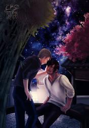 Moonlight garden by Poticceli