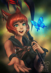 The Miqo'te and the Butterfly