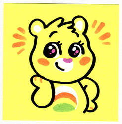Sticky Note Cheer Bear