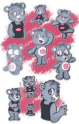 Scene Bear doodles