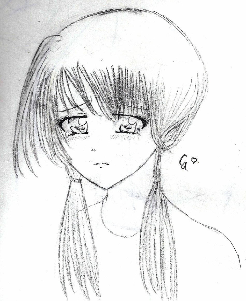 Images Of Drawing Of A Sad Anime Girl Www Industrious Info