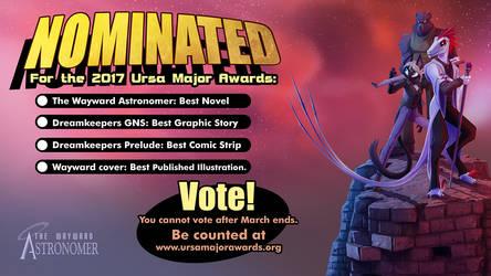 TWA nominated for the Ursa Major Award! Vote Now!