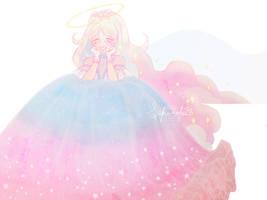 Astro in a big puffy dress! by sakuroha
