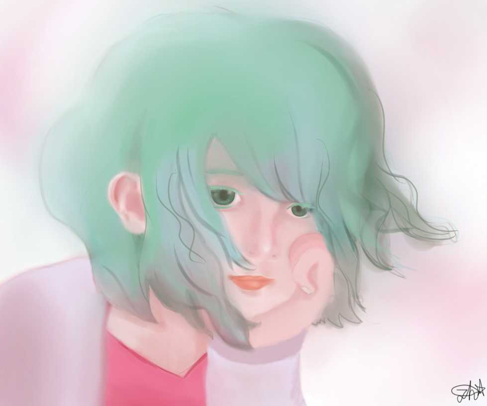 Turquoise Haired Girl by PekingDucks