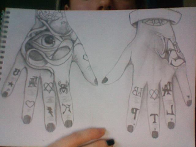 my hands kat von d tattoos by furiephoenix on deviantart. Black Bedroom Furniture Sets. Home Design Ideas