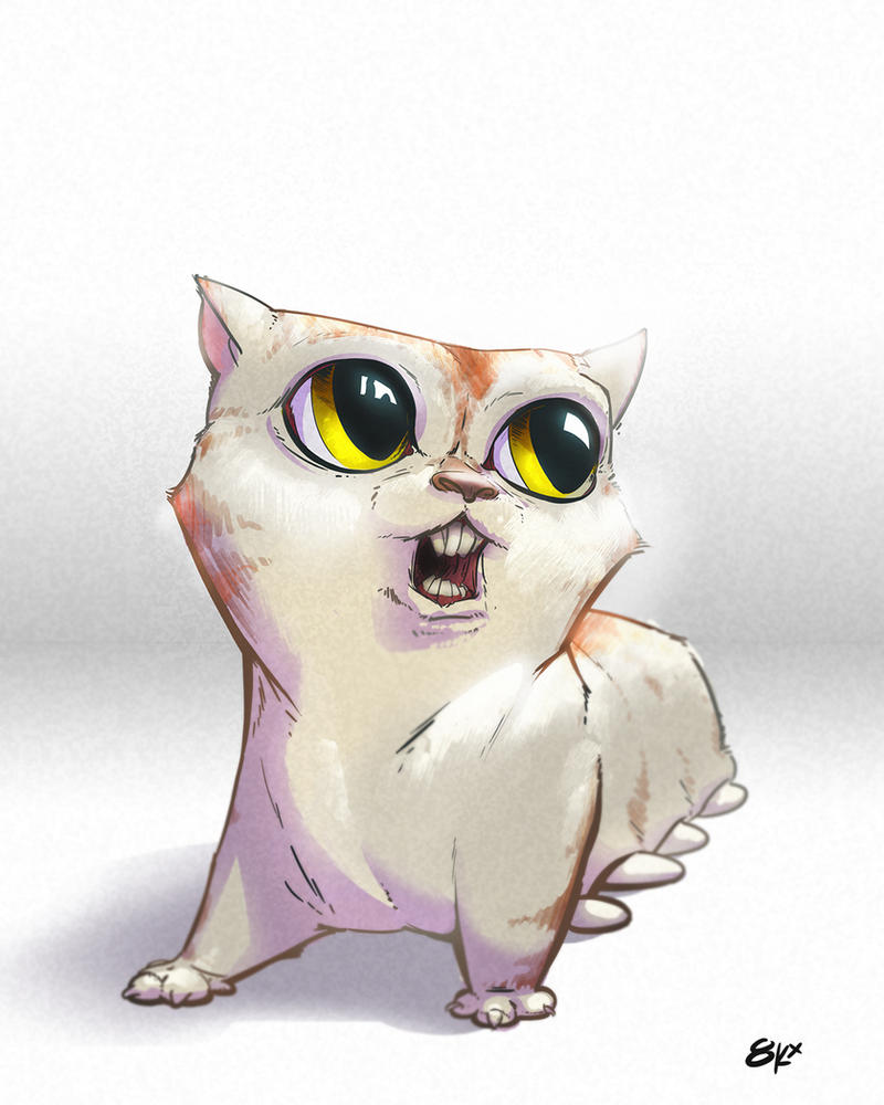 monster kitty by 8kx