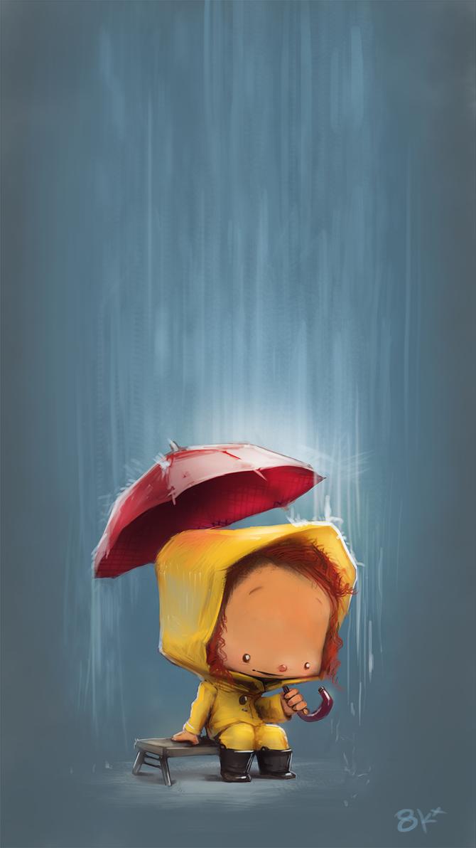 Girl Rain by 8kx