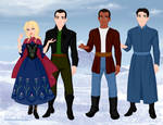 The 9th Doctor and Companions by VampKissLJ