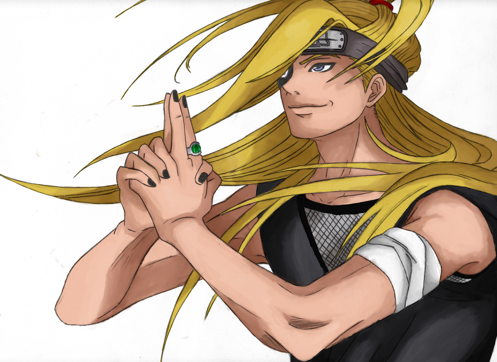 Deidara by Squallcloud66 (finish) by Delthora